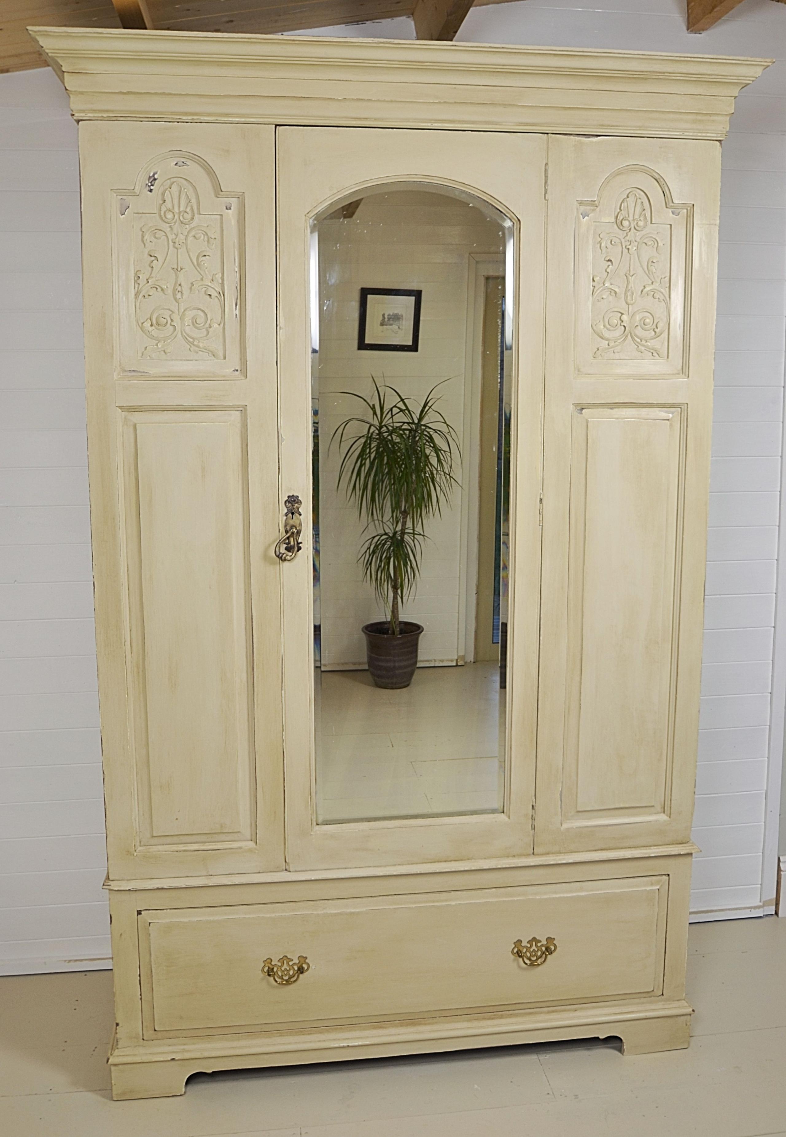 White Vintage Armoire