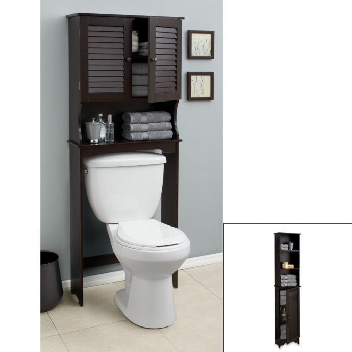 Charmant Black Bathroom Bathroom Storage Over Toilet Spacesaver Bathroom