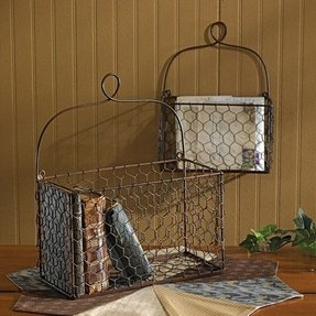 En Wire Wall Baskets Traditional Home Decor Other Metro