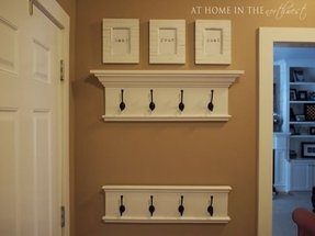 Coat rack shelf plans