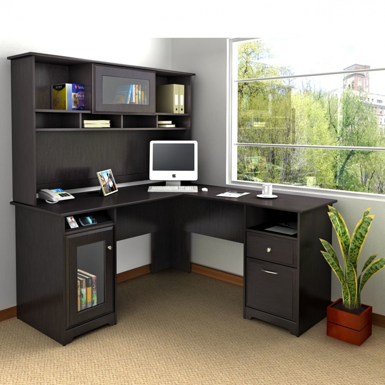 Superb Corner Computer Desk With Hutch For Home
