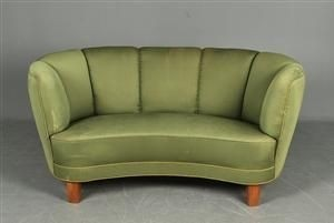 Beau Curved Sofas And Loveseats Small Danish 2 Pers Curved Sofa