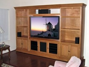 Entertainment center with bookcase