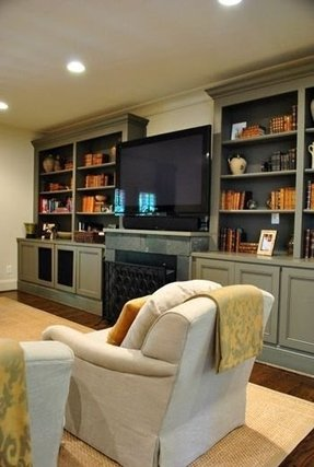 Entertainment centers with bookshelves 4