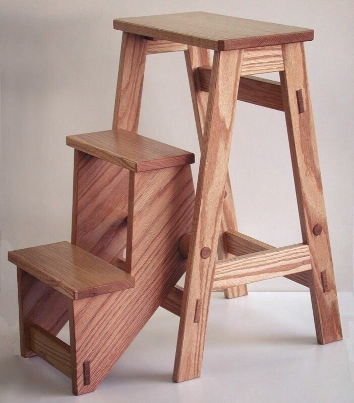 Ordinaire This Folding Kitchen Stool Makes A Really Functional Addition To Everyoneu0027s  Kitchen. Made From Oak And Finished With Several Coats Of Wipe On  Polyurethane ...