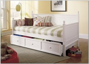 Girl trundle bed white