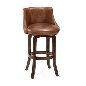 Leather swivel counter stools 2