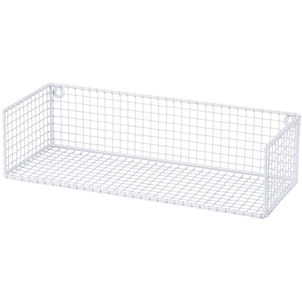 metal wall mount shelf foter rh foter com metal mesh shelving metal mesh storage shelves