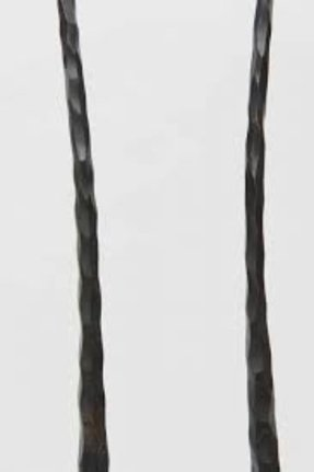 Pair of hand wrought iron candlesticks image 6