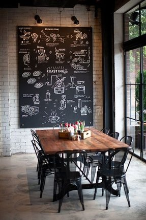Rustic industrial dining table 5