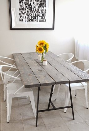 Rustic industrial dining table 8