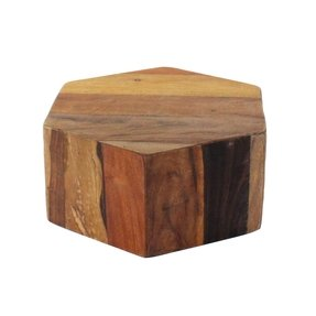 Short wooden stool
