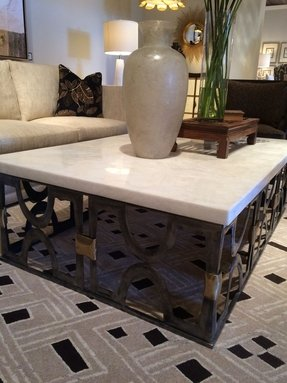Iron And Wood Coffee Table
