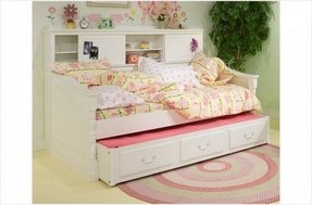 Trundle bed with bookcase 20