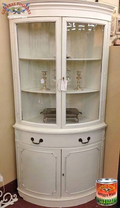 Superieur White Corner China Cabinet 23