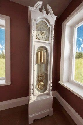 White Grandfather Clock 11