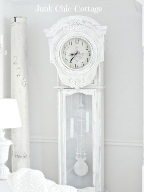 White Grandfather Clock