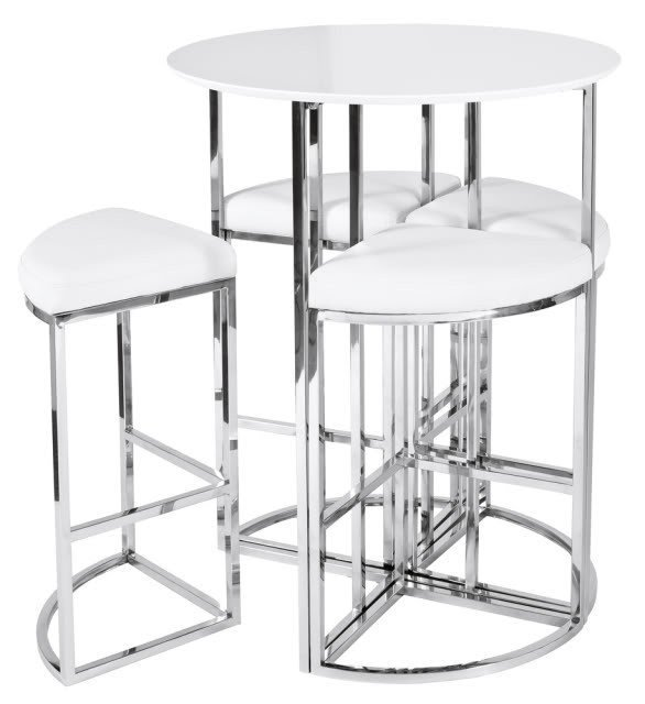 About new dwell style white gloss orbit bar table set  sc 1 st  Foter & White Pub Table Sets - Foter