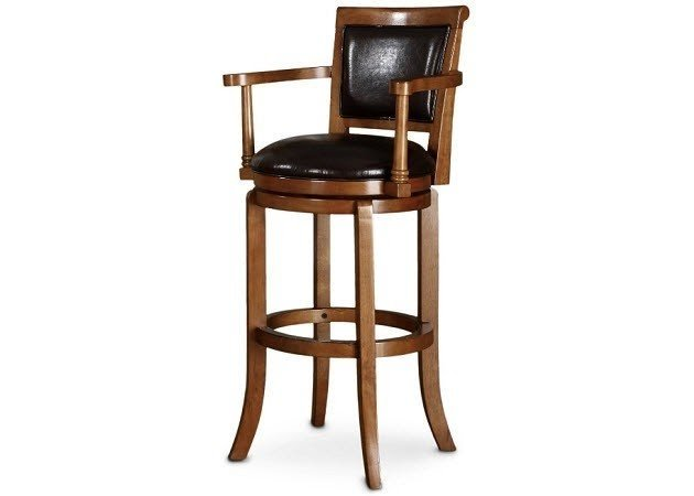 Beau Bar Stools With Backs And Arms And Swivels