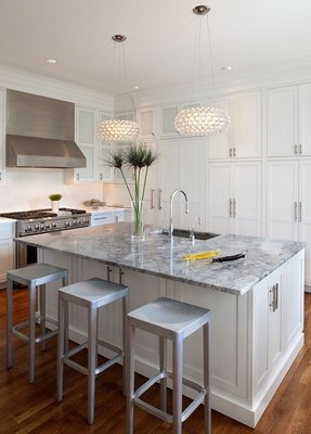 White Kitchen Island With Granite Top - Ideas on Foter