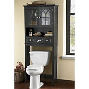 Black Over Toilet Cabinet