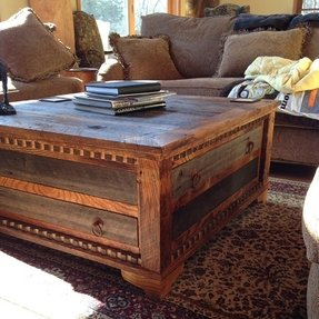 Coffee table square wood 14