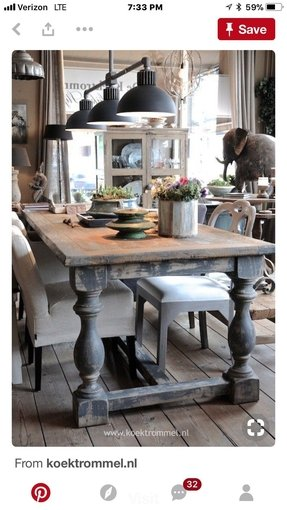 Distressed dining room tables 7