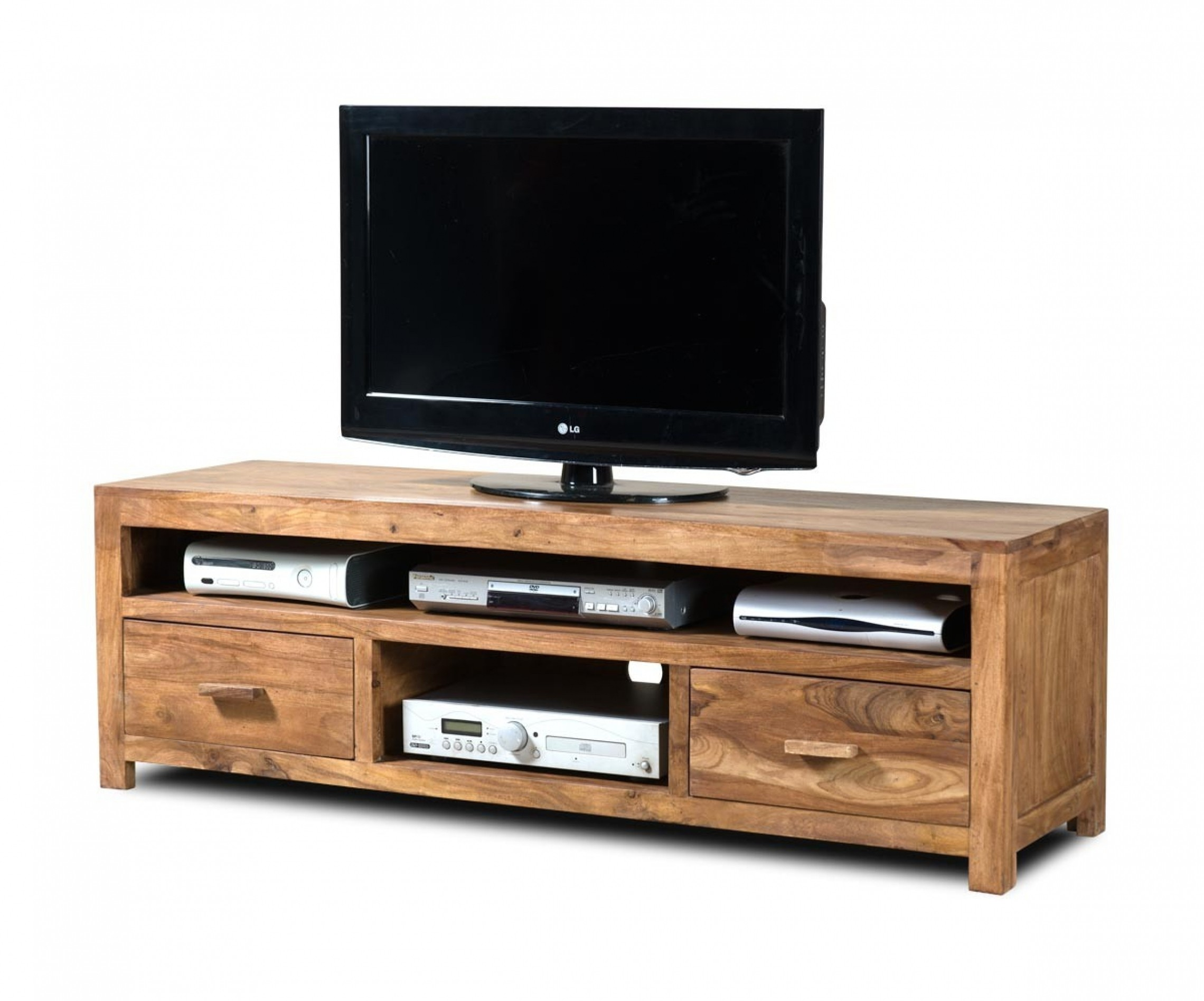 Ordinaire With Its Solid Wood Craftsmanship, This Natural Finished TV Cabinet Is Very  Durable And Stable. It Offers A Large Top For Accommodating Even Larger  Flat ...