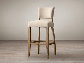 Fabric upholstered bar stool 8
