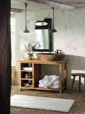 Rustic bathroom sinks foter - Alfombras vinilicas westwing ...