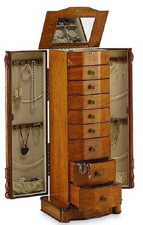 Free standing jewelry armoire 5