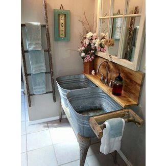 Galvanized Wash Tub Sink