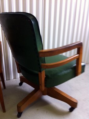 Green leather desk chair 6