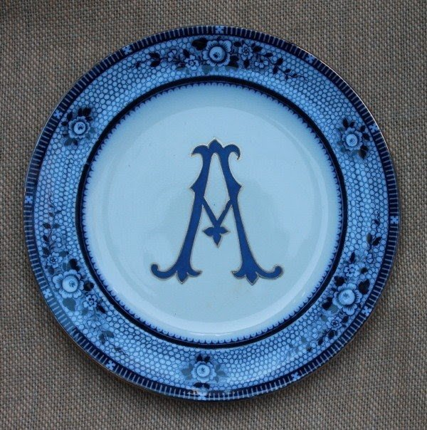 Kelly wilson antique monogram plate diy a monogram on an & Large Decorative Plates For The Wall - Foter