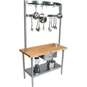Kitchen Island With Pot Rack Foter