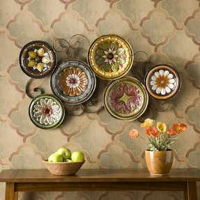 Large decorative plates display