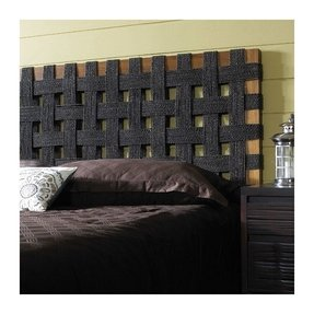 Metal and wood headboard 1