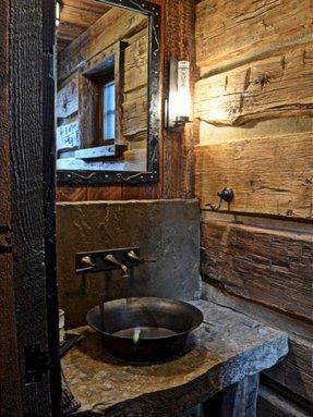 Rustic bathroom sinks foter for Metal bucket sink