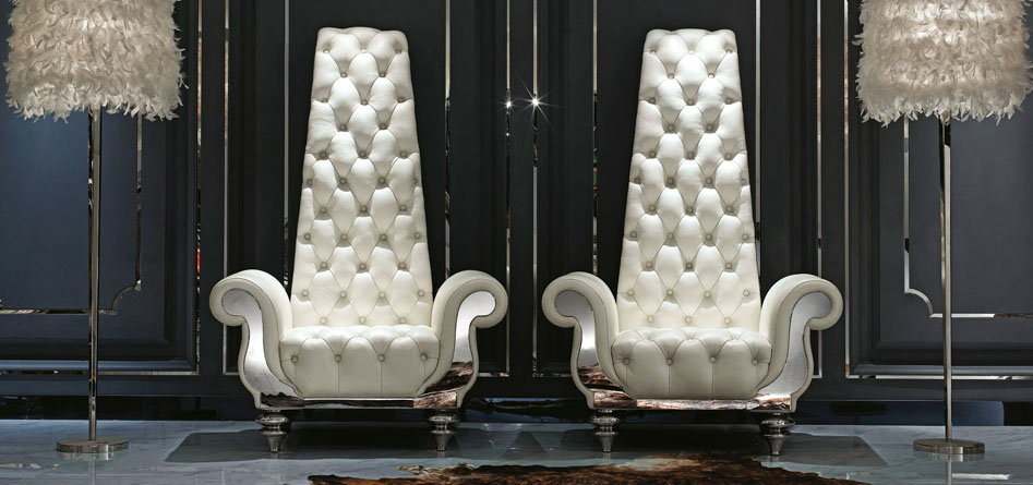 Modern High Back Wing Chairs