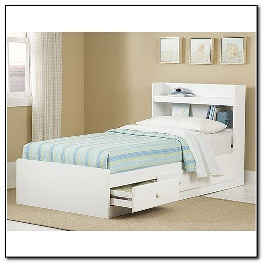 Genial New Visions By Lane Twin Storage Bed With Headboard White