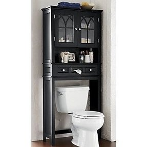 Black Bathroom Space Saver Over Toilet Foter