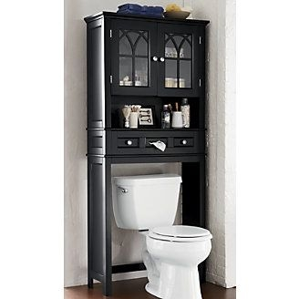Over The Toilet Storage Black