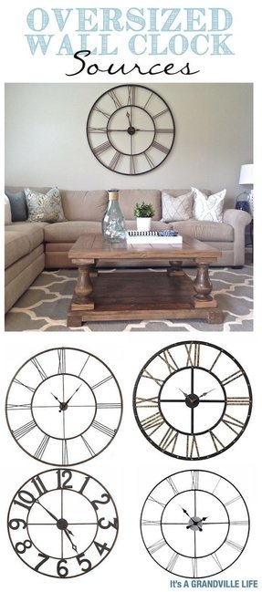 Oversized decorative wall clocks 19
