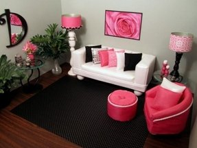 Pink living room furniture 21