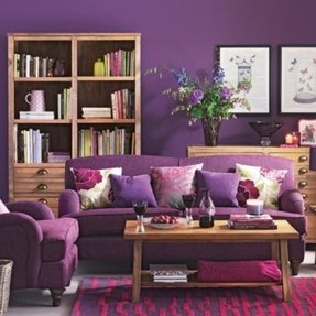 Purple Living Room Furniture Ideas On Foter