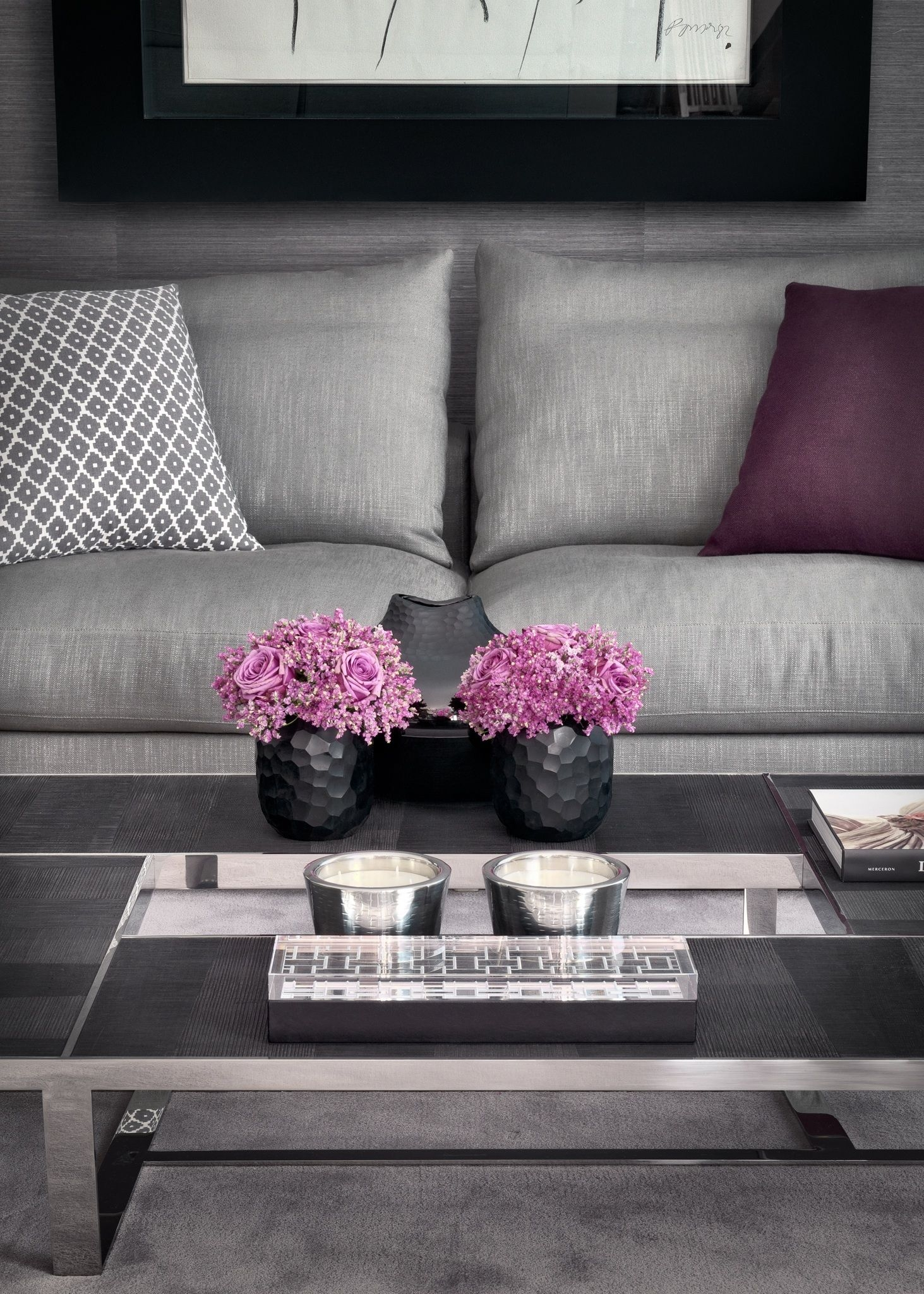 Purple Living Room Furniture 13