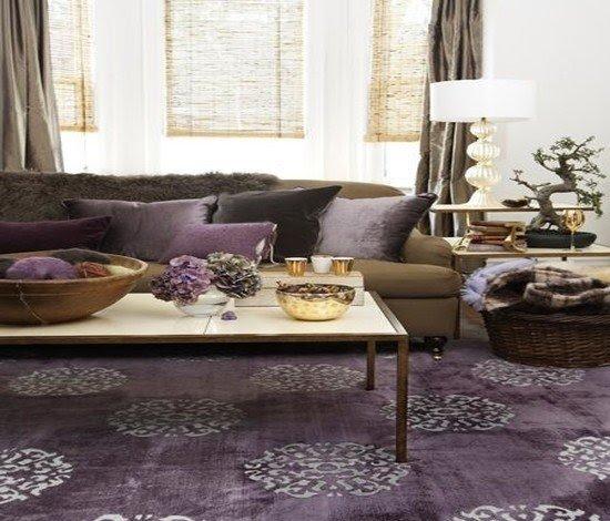 Charming Purple Living Room Furniture 9