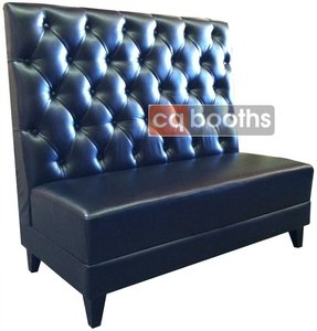 Restaurant booth furniture diamond or tufted back design custom booth