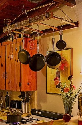 Rustic Pot Rack Foter