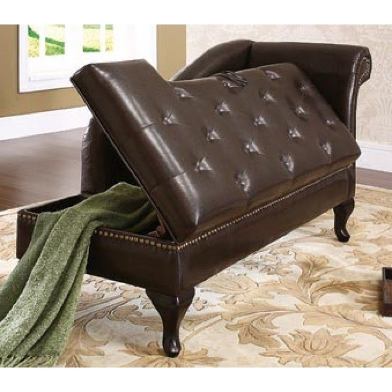 Storage Chaise Lounge Chair 1